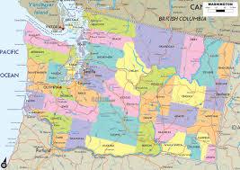 Road Map Usa Washington Road Map