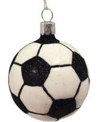 sale soccer glass tree ornament
