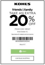kohls coupons august 2017 coupon codes printable coupons
