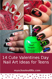 14 cute valentines day nail art ideas for teens myschooloutfits com