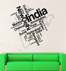 New Delhi India Map by Details About Wall Stickers Vinyl Decal India Map New Delhi Map