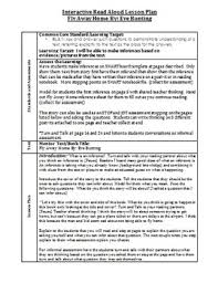 fly away home lesson plan away home inferencing interactive read aloud lesson plan w notebook file