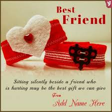 best friend greetings with name
