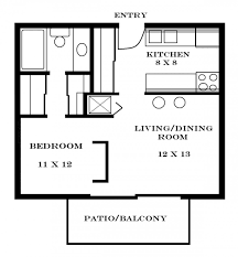 download one room efficiency apartment plans home intercine