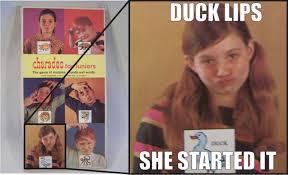 Origin Of Meme - duck lips origin duck face know your meme