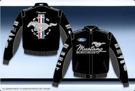 mustang shirts and jackets ford mustang jacket black cotton twill mens mustang racing jacket