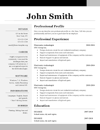 Resume Header Samples One Page Resume Examples Resume Example And Free Resume Maker