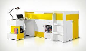 bureau coulissant lit combine en hauteur avec bureau coulissant et rangements