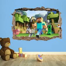 minecraft wallpaper stickers decals u2014 minecraftbedroom com