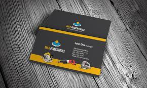 hardware u0026 power tool business card template free download hw00002
