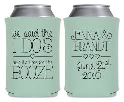personalized wedding favors wedding can coolers beverage insulators personalized wedding