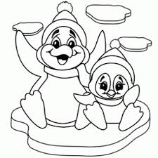 penguins coloring free christmas recipes coloring pages