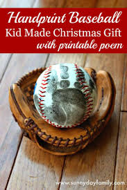 Christmas Gift Dad - handprint baseball kid made christmas gift with free printable