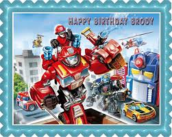 transformers cake toppers image topper your photo frame frosting transformers rescue edible cake or cupcake topper edible prints