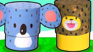 learn to make cute animal toys koala lion u0026 giraffe diy craft