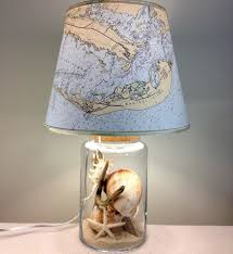 Sanibel Florida Map by Sanibel Island Ocean Map Lamp Fillable Glass Lamp Via Florida