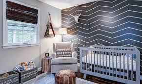 Modern Nursery Wall Decor Baby Nursery Modern Nursery Features Chevron Stripes Pattern