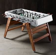 3 in one foosball table industrial foosball table by restoration hardware hiconsumption
