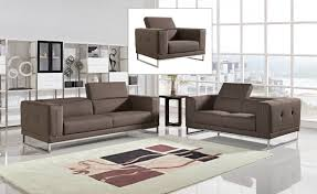 Set Sofa Modern Brown Fabric Sofa Sets Emeryn