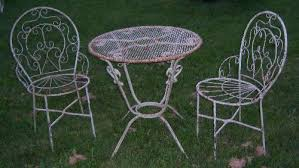 Iron Bistro Chairs Wrought Iron Bistro Table U0026 2 Chairs Set