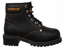 womens boots size 3 womens caterpillar cat logger leather steel toe cap safety work