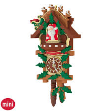 Cuckoo Clock Kit Santa U0027s Tiny Timekeeper Mini Cuckoo Clock Ornament Keepsake