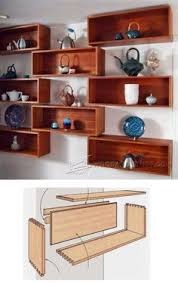 Leaning Shelves Woodworking Plans by Wall Shelves Plans Woodworking Plans And Projects