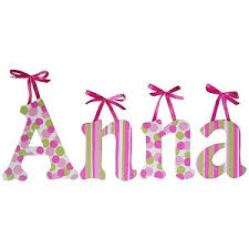 kids room decor anna ribbon design decorations wallpaper letters