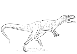 allosaurus dinosaur coloring free printable coloring pages