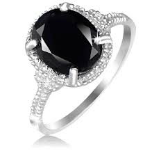 black sapphire engagement rings deal only 7 99 black sapphire accent sterling silver