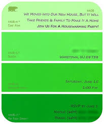 green paint swatches diy paint swatch housewarming invitations nicole klym photography