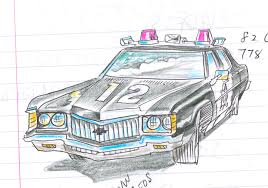 drawn car police car pencil and in color drawn car police car
