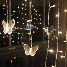 Curtain Christmas Lights Indoors Creative Butterfly Light Indoor Home Decoration Window Led Curtain