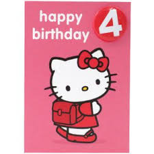 images of 4th birthday card birthday cards hello kitty happy