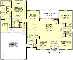 craftsman style house plan 3 beds 2 baths 1842 sq ft plan 430