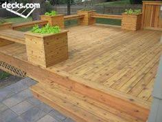 Deck Planters And Benches - trex transcend deck albany oregon with corner planter boxes