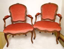 Louis Xv Armchairs Pair Of Louis Xv Armchairs Stamped Eighteenth