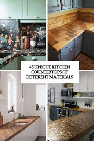 kitchen cabinets top material 45 unique kitchen countertops of different materials digsdigs