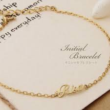 name bracelets k18 necklace goldenriver rakuten global market initials