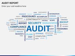 audit report example ppt basic internal auditing presentation