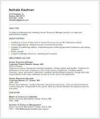 Sample Resume For Human Resources by This Free Sample Was Provided By Aspirationsresume Com This Free
