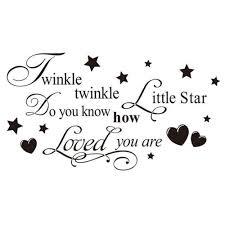 little star quote wall sticker twinkle little star quote wall sticker