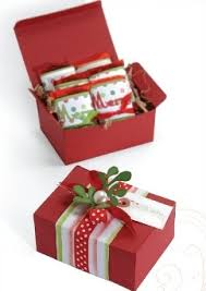 christmas gift box from sizzix favecrafts com