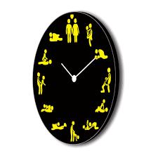 Grandpa Clock Naughty Positions Kamasutra Canvas Wall Clock