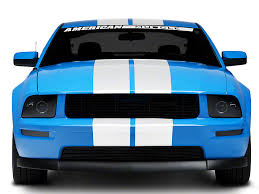 stripes on mustang graphics mustang white lemans stripes 8 in