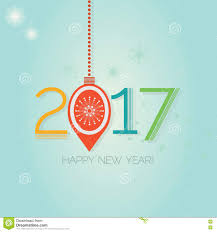 abstract hanging happy new year 2017 ornaments stock vector