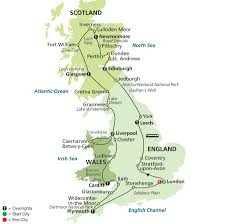 Map Of Wales And England by England Scotland U0026 Wales Tour Cosmos Budget Tours Travel