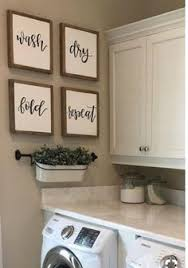 laundry room signs wall decor set of four signs wash fold repeat sign reclaimed sign