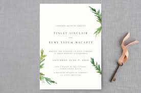 simple wedding invitations simple pine branches wedding invitations by nikkol christiansen