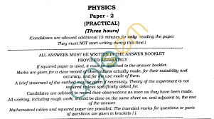isc class xii exam question papers 2012 physics practical